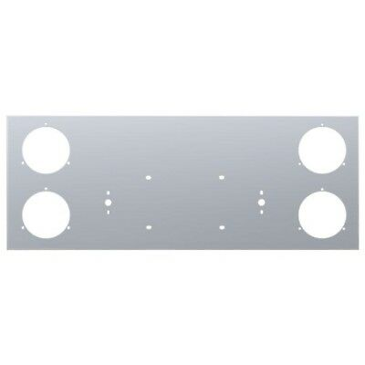 """Stainless Steel Rear Center Light Panel - Four 4"""" Light Cutouts [PANEL ONLY]"""