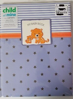 Child of Mine Baby's First Memory Book Boys Blue & Orange by Carter's