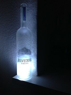 Belvedere Vodka 1,75 Liter LED Flasche leer deko Empty Bottle