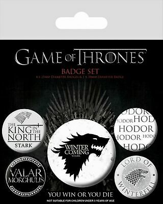 Game Of Thrones Ansteck Buttons Winter Is Coming Neu & OVP