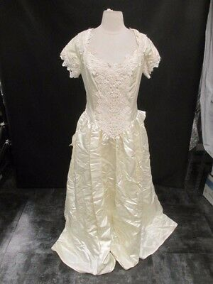 Women's Jessica McClintock Cap Sleeve Size 16 Wedding Gown with Matching Veil