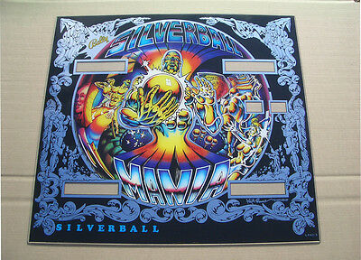 Bally Silverball Mania Pinball Machine Backglass Tiny Flaws Free Shipping! New!