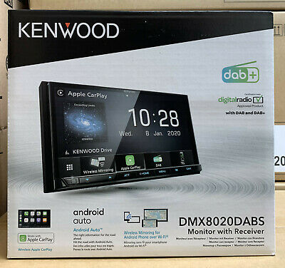 Kenwood DNX-8170DABS Double Din Car Sat Nav Screen Stereo Carplay Android Auto