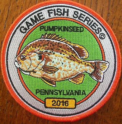 Pa Pennsylvania Fish Game Commission  Patch 2016 Pumpkinseed  Game Fish Series