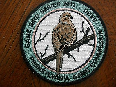 """Pa  Pennsylvania Game Fish Commission Patch 4"""" 2011 Dove  Game Bird Series"""