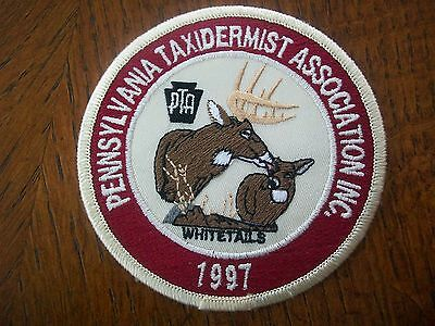 """Pa Pennsylvania Game Fish Commission Hunting Patch 4"""" 1997 Taxidermist Series"""