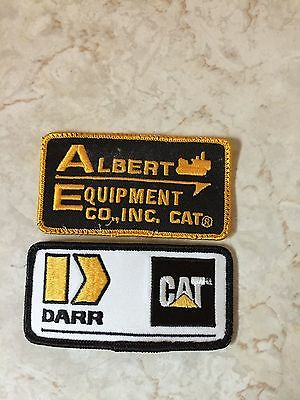 2 Vintage Caterpillar Sew-on Embroidered Patch