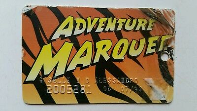 Hollywood Casino Adventure Marquee Tiger Slot Card - 1995 Scarce!