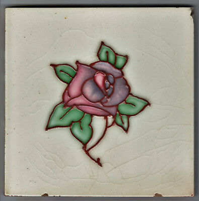 Tile With An Art Nouveau Tubelined Design Manufactured By Marsden C.1908-1913