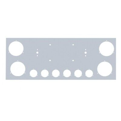 "Stainless Rear Center Panel - Four 4"" & Six 2"" Light Cutouts [PANEL ONLY]"
