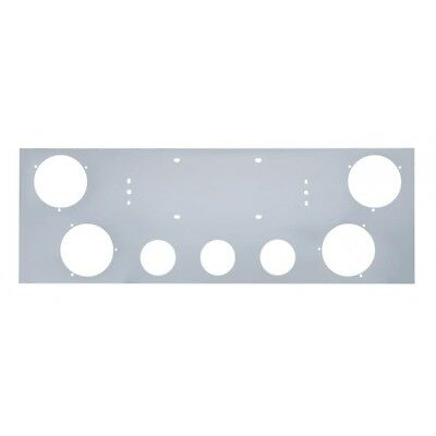 """Stainless Rear Center Panel - Four 4"""" & Three 2-1/2"""" Light Cutouts [PANEL ONLY]"""