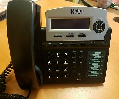 XBlue Networks X16 EKT Charcoal Telephone with 6 Lines 1670-00 Stand included