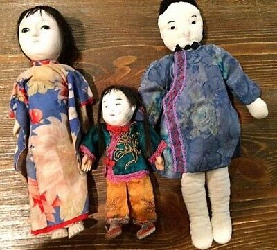 Antique Vintage Asian Celluloid Doll Clothing Japanese Chinsese Doll Ethnicities