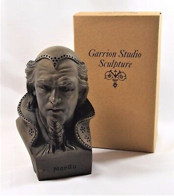 Merlin Sculpture Stone Cast Bust Rare Boxed Made In Scotland By Garrion Studio