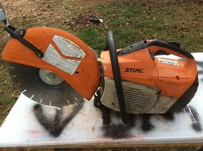 stihl TS 500i concrete saw cut quick hand held great condition