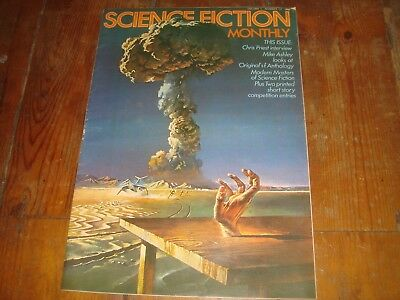 SCIENCE FICTION MONTHLY Vol. 1 #12   New English Library Tabloid 1974 FN