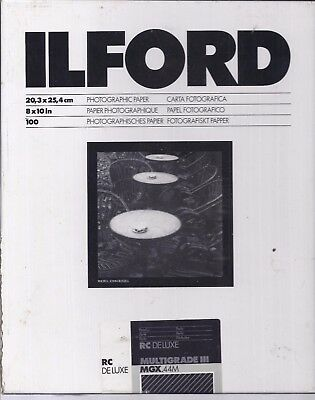 Box of ILFORD 8X10 PHOTO PAPER Approximately 85 Sheets.