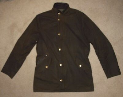 Barbour PRESTBURY Waxed Jacket in Olive - SMALL  [2267]