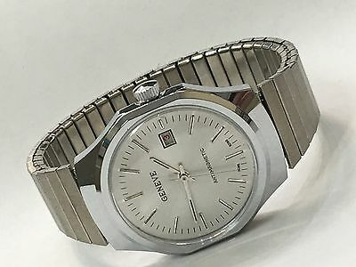 Vintage Mechanical  Windup GENEVE Watch New Old Stock From the 80s(GE-58430)