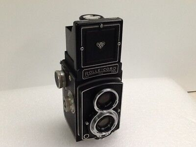 "Vintage Quality German Made ""rolleicord"" Tlr Camera With Leather Case"