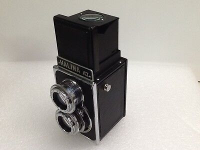 "Vintage ""halina Ai"" Tlr Camera And Leather Case"