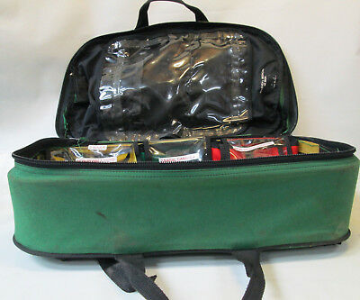 Vintage Uni-Med Design Rescue Green Medical Bag Backpack