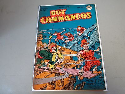 Boy Commandos #14 Comic Book 1946  WW2 Cover