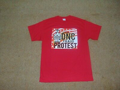 DNC Fraud Protest Event shirt, Large, Red