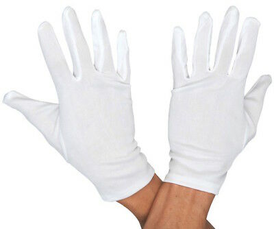 Santa Clause Gloves White Christmas Mime Inspection Tuxedo Costume Gloves