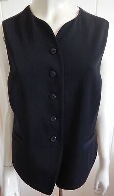 Country Road vintage black wool waistcoat with satin back size 12  (US 10)