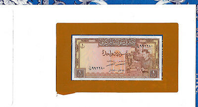 *Banknotes of All Nations Syria 1978 1 Pound P93d UNC prefix 1/18*