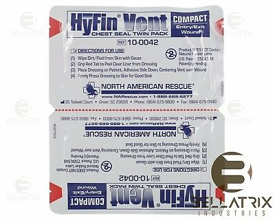 Hyfin Vent Compact Seal Bandage, 2 Pack Newest Version