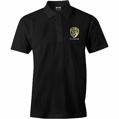 Richmond Tigers AFL 2017 Premiers Black Polo Shirt Sizes S-3XL! In Stock! P2