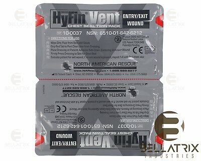 Newest Version Hyfin Vented Bandage Seal, Twin Pack