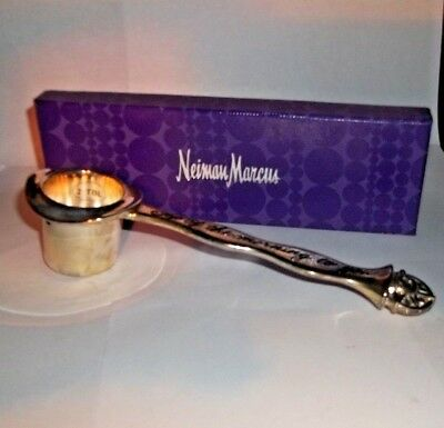 "Neiman Marcus Silver Plated Coffee Scoop, ""Top of the Morning to You"""