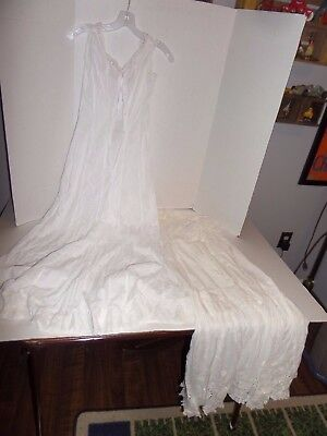 2 Vintage Full Chemise Style Petticoats/Slips-1 Drawstring Top Lot #35