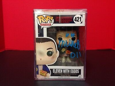Stranger Things Eleven with Eggos Funko POP Figure Signed By Millie Bobby Brown