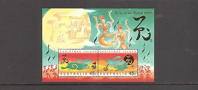 Christmas Island  1999 Year of the Rabbit  Mint  unhinged  mini sheet