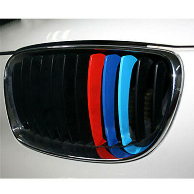 M Sports Sticker Car Front Grill Stripes Decals for BMW 1 2 3 5 7 SERIES X5 X6