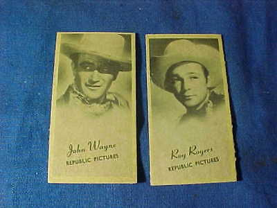 2-1940s REXALL Drug Store PENNY Scale +Fortune CARDS-JOHN WAYNE + ROY ROGERS