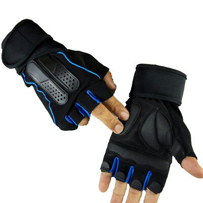 Weight Lifting Gym Fitness Body Building Gloves Training Half Finger Wrist