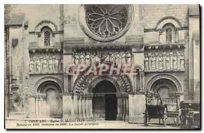 CPA Thouars Eglise St Medard XII siecle Automobile