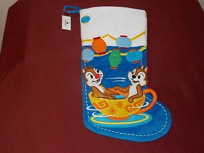 Disney Parks Chip and Dale Christmas Holiday Stocking NEW