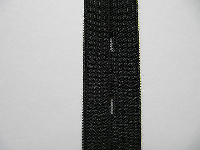 Buttonhole Elastic 19mm Black Ideal Maternity Wear School Uniform 1.5 m lots