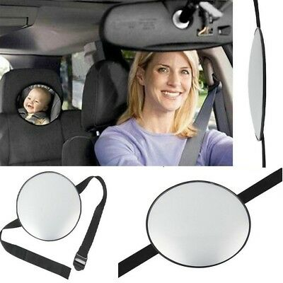 Adjustable Round Rear Baby Child Seat Car Safety Wide View Mirror Headrest Mount
