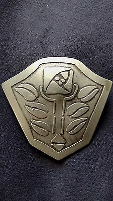 RARE Antique Arts & Crafts CARENCE CRAFTERS Silver Brooch Pin c1910 Chicago