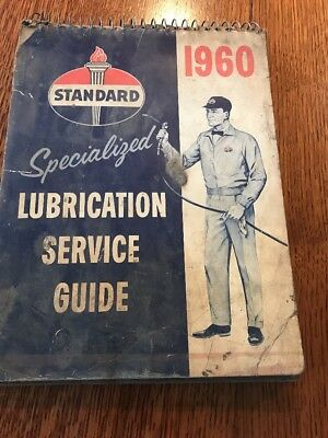 1960 Standard lubrication guide Service Manual garage american foreign car