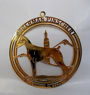 Doberman Pinscher Brass Ornament-Usa-Nice