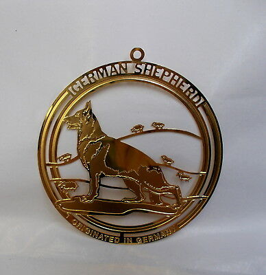 German Shepherd Brass Ornament-Usa-Nice