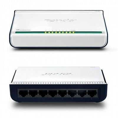 Tenda 8 Port 100 Mbit  Ethernet Switch Netzwerk Verteiler S108